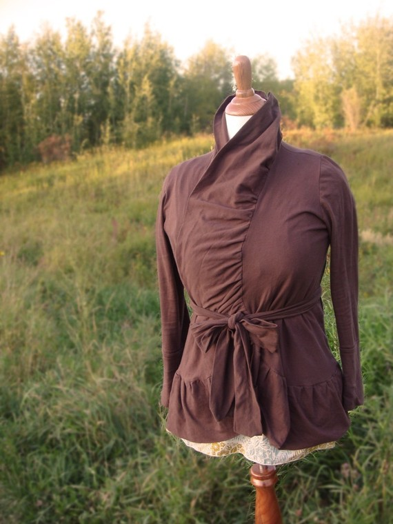 brown jane cardi