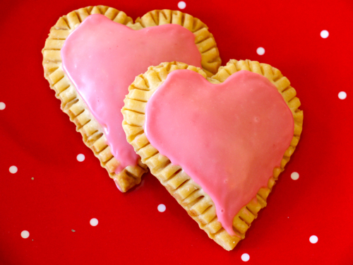 Raspberry Heart Tarts 2 weekend valentines kids craft & raspberry heart tarts recipe {dye free}