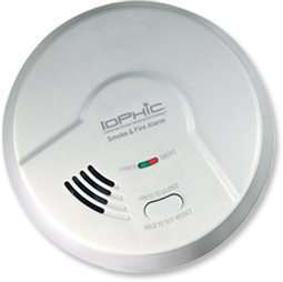 iophic smoke alarm unit view 2 keeping your home safe: an alarm that can distinguish between a real fire and smoke from cooking!